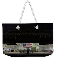 Us Air Force Eq 4 Global Hawk Assigned To The 380th Air Expeditionary Wing Await Routine Maintenance Weekender Tote Bag