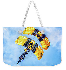 Weekender Tote Bag featuring the photograph U.s. Army Golden Knights by Nick Zelinsky