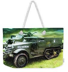 U.s. Army Halftrack Weekender Tote Bag