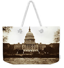Weekender Tote Bag featuring the photograph Us Capitol Building In 1950s by Marilyn Hunt