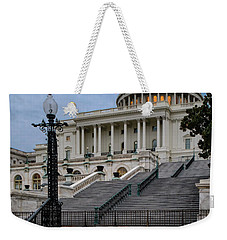 Weekender Tote Bag featuring the photograph Us Capitol Building Twilight by Susan Candelario