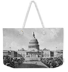 Us Capitol Building Weekender Tote Bag by War Is Hell Store