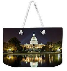 Us Capitol Night Panorama Weekender Tote Bag