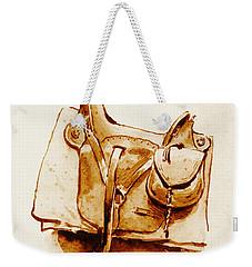 Us Cavalry Saddle 1869 Weekender Tote Bag by Padre Art