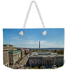 Weekender Tote Bag featuring the photograph Us Department Of Treasury by Jean Haynes