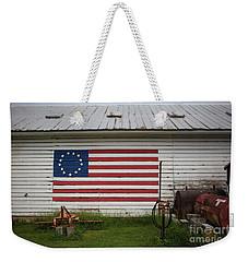 Us Flag Barn Weekender Tote Bag