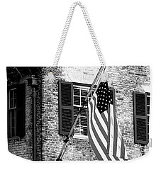 Us Flag In Colonial Williamsbug Weekender Tote Bag
