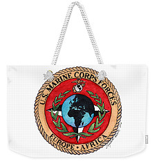 Weekender Tote Bag featuring the painting U.s. Marine Corps Forces Europe - Africa by Betsy Hackett