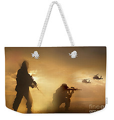 U.s. Special Forces Provide Security Weekender Tote Bag