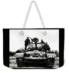 U.s. Troops With Korean Tank 1951 Weekender Tote Bag by Peter Gumaer Ogden