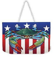 Usa Blue Crab Weekender Tote Bag
