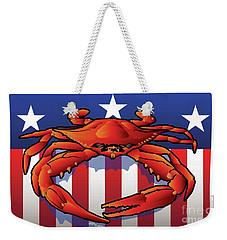 Usa Crab Weekender Tote Bag