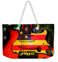 Weekender Tote Bag featuring the photograph Usa Guitar Music by Guitar Wacky