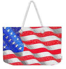 Weekender Tote Bag featuring the digital art Usa Usa Usa by Rafael Salazar