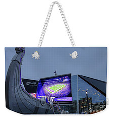 Usbank Stadium Viking Ship Weekender Tote Bag