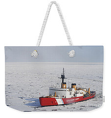 Uscgc Polar Sea Conducts A Research Weekender Tote Bag