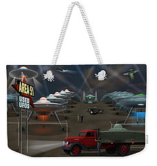 Area 51 Used U F O S Weekender Tote Bag by Mike McGlothlen