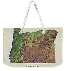 Usgs Map Of Oregon Weekender Tote Bag
