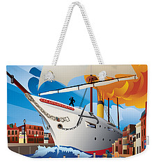 Uss Annapolis In Ego Alley Weekender Tote Bag