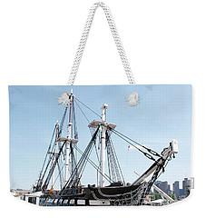 Uss Constitution Dry Dock Weekender Tote Bag by Caroline Stella