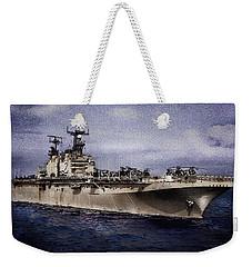 Uss Iwo Jima Lph2 Weekender Tote Bag