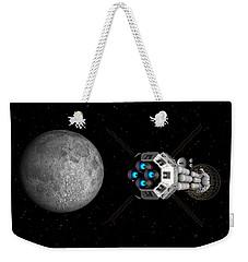 Uss Savannah Passing Earth's Moon Weekender Tote Bag