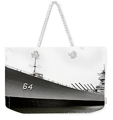 Uss Wisconsin - Port-side Weekender Tote Bag