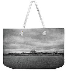 Weekender Tote Bag featuring the photograph Uss Yorktown by Sandy Keeton