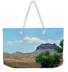 Weekender Tote Bag featuring the photograph Ute Reservation Landscape by Debby Pueschel