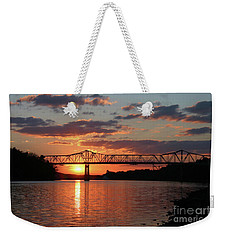 Utica Bridge At Sunset Weekender Tote Bag
