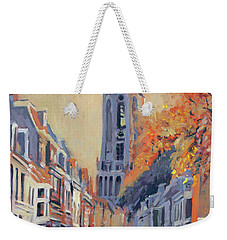 Weekender Tote Bag featuring the painting Utrecht Dom Tower by Nop Briex