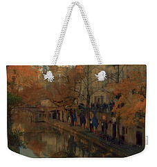 Weekender Tote Bag featuring the painting Utrecht In Autumn by Nop Briex