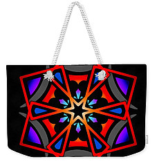 Weekender Tote Bag featuring the digital art Utron Star by Derek Gedney