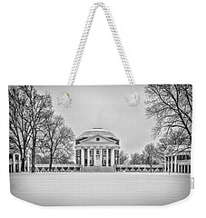 Weekender Tote Bag featuring the photograph Uva Rotunda Winter 2016 by Kevin Blackburn