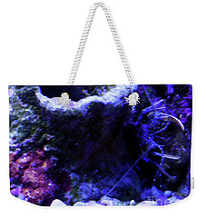 Weekender Tote Bag featuring the digital art Uw Coral Stone by Francesca Mackenney