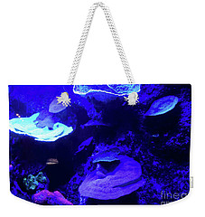 Weekender Tote Bag featuring the photograph Uw Neon Coral by Francesca Mackenney