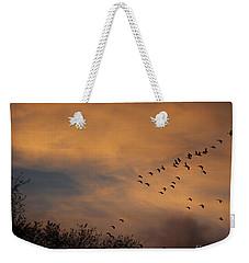 V Formation At Sunset  Weekender Tote Bag by Kathy M Krause