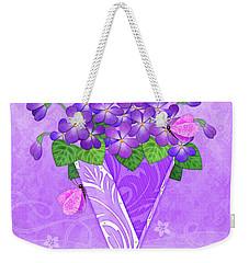 V Is For Violets Weekender Tote Bag