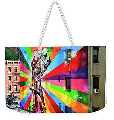 V - J Day Mural By Eduardo Kobra # 2 Weekender Tote Bag