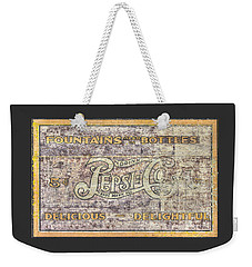 Va Country Roads - Vintage Pepsi Cola Wall Mural - South Jefferson And Church Ave. Sw, Roanoke, Va Weekender Tote Bag
