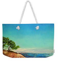 Weekender Tote Bag featuring the painting Vacanza Permanente by Maja Sokolowska