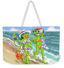 Vacation Beach Frog Girls Weekender Tote Bag