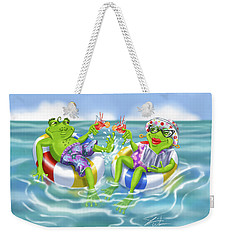 Vacation Happy Frog Couple Weekender Tote Bag
