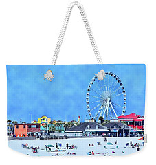 Weekender Tote Bag featuring the photograph Vacation by Kathy Bassett