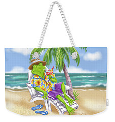 Vacation Relaxing Frog Weekender Tote Bag