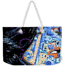 Weekender Tote Bag featuring the mixed media Vain by Tony Rubino