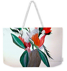 Weekender Tote Bag featuring the painting Valentine By Bill O'connor by Bill OConnor