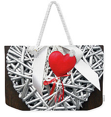Weekender Tote Bag featuring the photograph Valentine Heart by Juergen Weiss