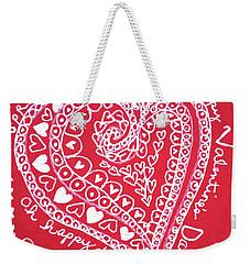 Valentine Heart Weekender Tote Bag