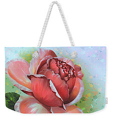 Weekender Tote Bag featuring the digital art  Valentine's Day by Andrzej Szczerski